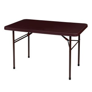 foldable plastic table in brown