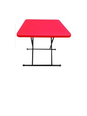 Height adjustable plastic table