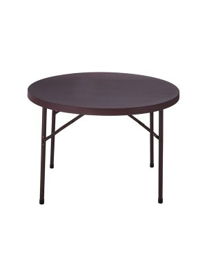 Plastic folding Table in brown color for multipurpose