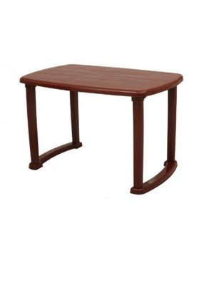Plastic table in Brown color