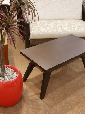 Centre table rectangular walnut color