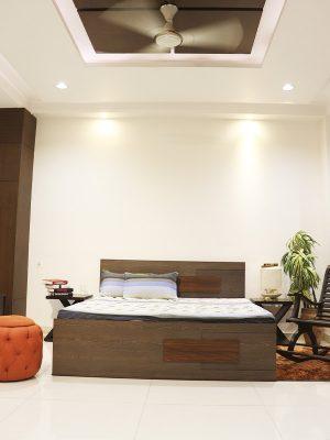 Teakwood double bed with big storage