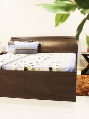 Teakwood double bed with storage