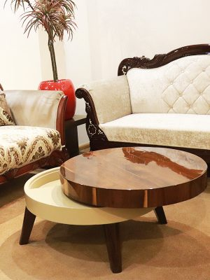 Circular shape rolling centre table