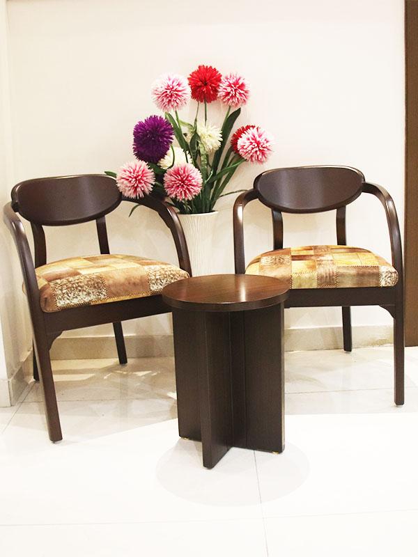 Accent wooden chair set