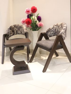 accent teakwwod chair set