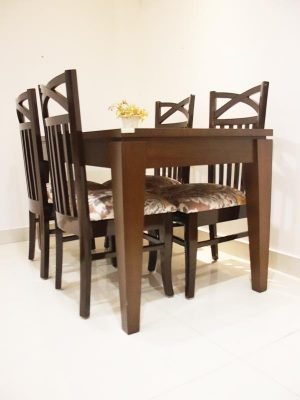 4 seater wooden dinning table set