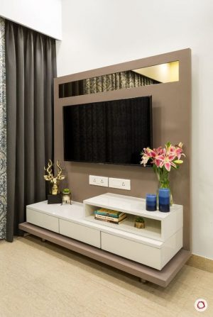 Wooden LCD unit for living space