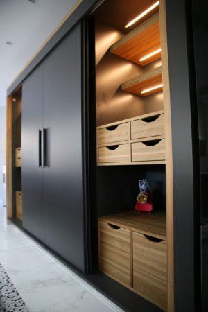 Teakwood wardrobe black and beige