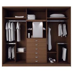 Teakwood wardrobe in natural wood color